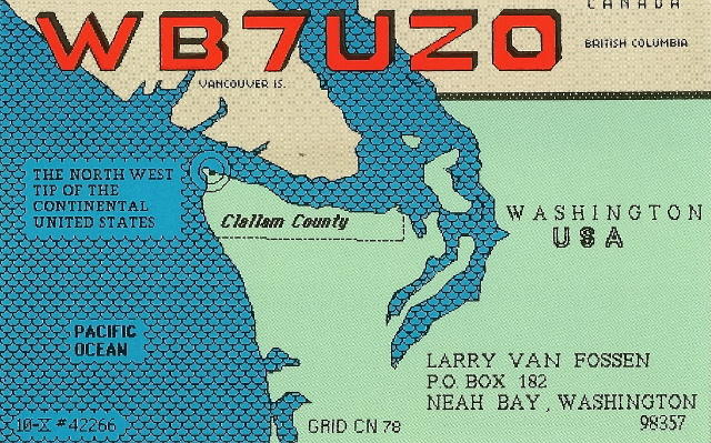 QSL image for WB7UZO