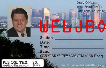 QSL image for WE6JBO
