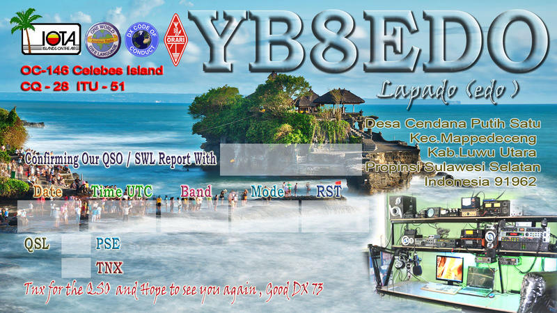 QSL image for YB8EDO