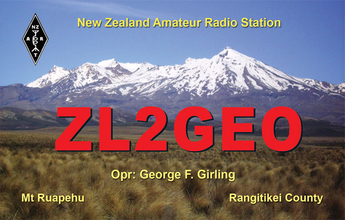 QSL image for ZL2GEO