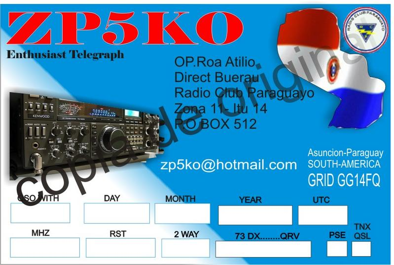 QSL image for ZP5KO