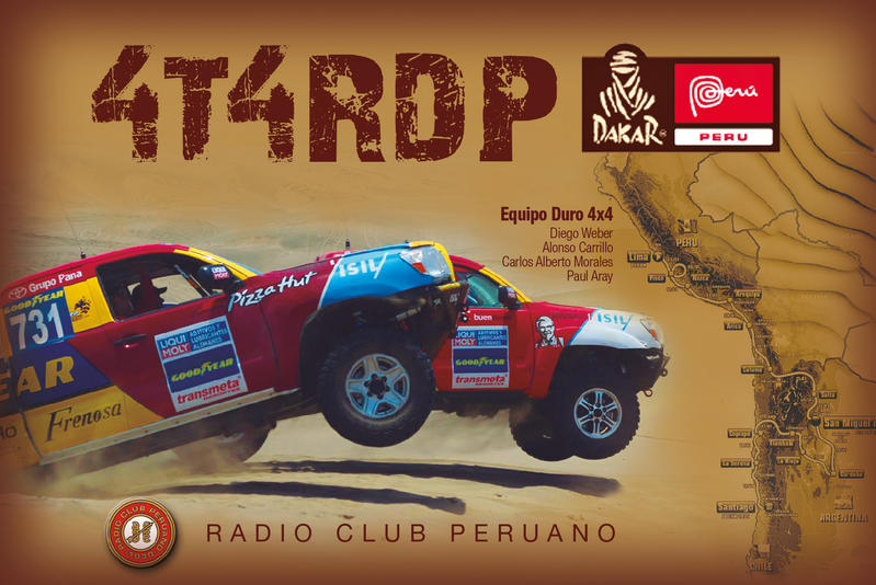 QSL image for 4T4RDP
