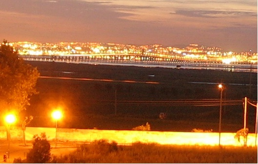 View from the QTH to Lisbon at night