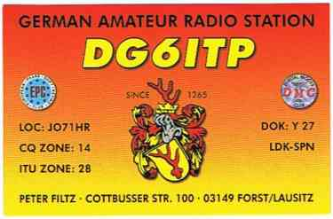 QSL image for DG6ITP