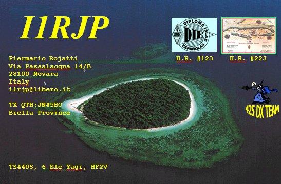 QSL image for I1RJP