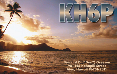 QSL image for KH6P
