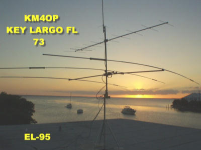 OLD QTH IN THE FLORIDA KEYS (KEY LARGO) VHF VERTICAL, 11 ELEMENT CUSHCRAFT VHF SSB, MOSELY TA-33 JR, GREAT HAM LOCATION!!