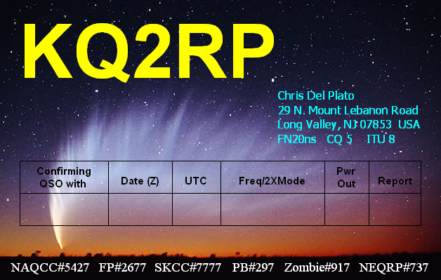 QSL image for KQ2RP