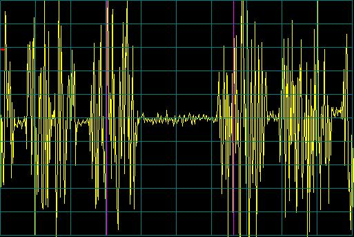 Pulses are 8.33msec apart.  Noise floor is space between pulses.