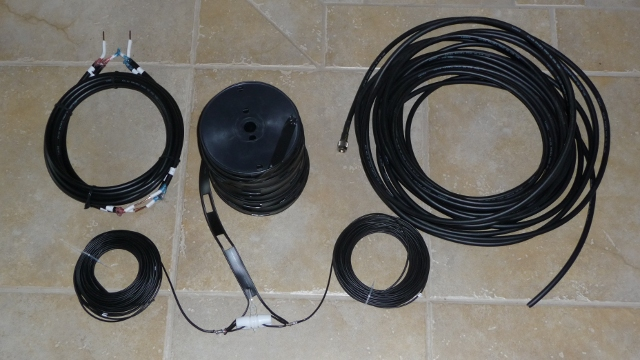 4 to 1  current balun, black 450 ohm ladder, lmr400 coax, Insulated antenna  braid wire