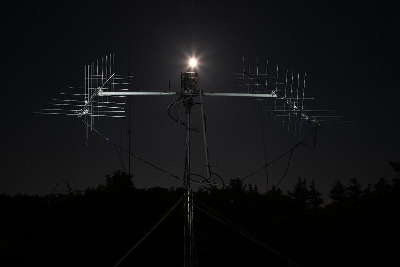 2010: 2m double cross-yagis for EME (JT65)