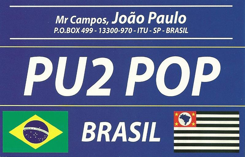 QSL image for PU2POP