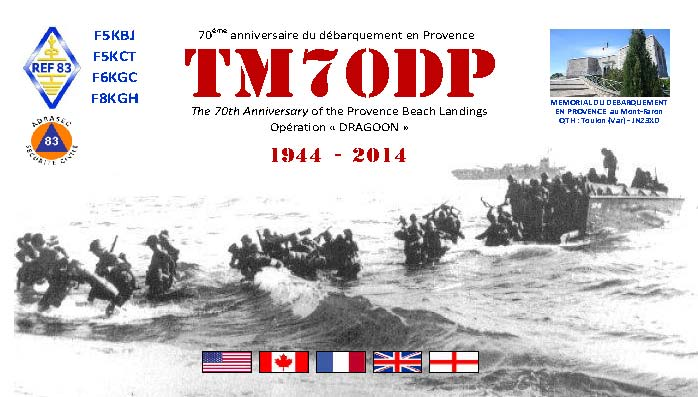 QSL image for TM70DP