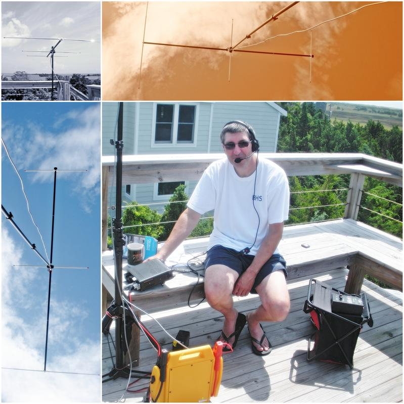 Ocracoke N.C. 2 meters IC 7000 Buddipole Antenna