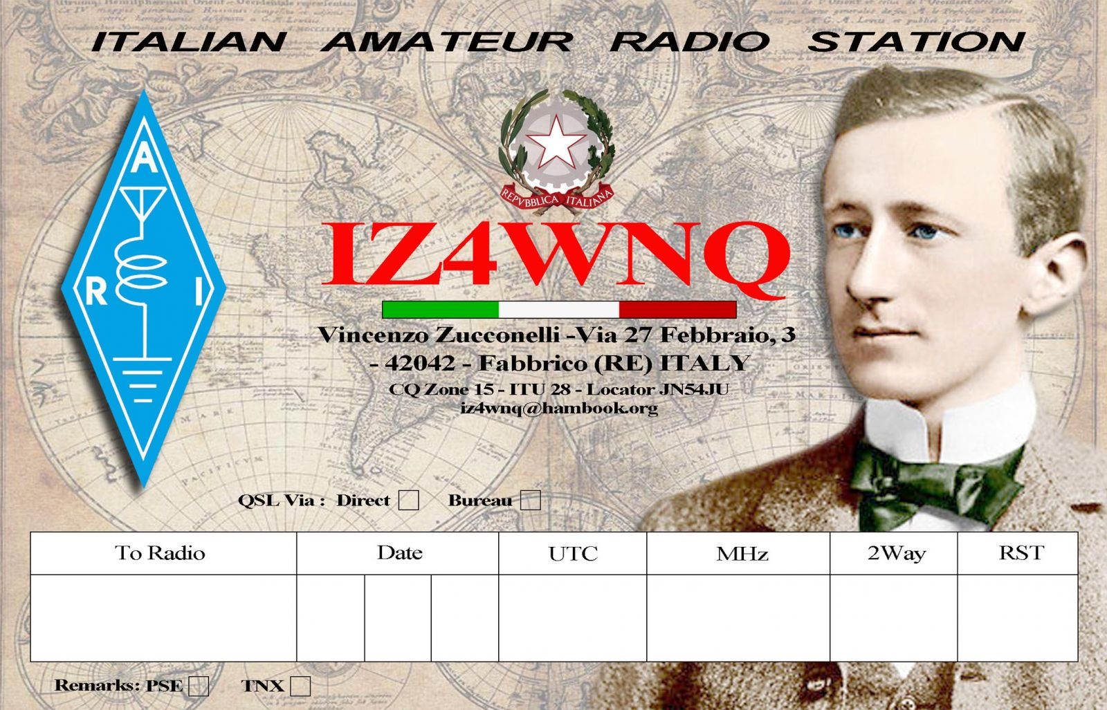 QSL image for IZ4WNQ