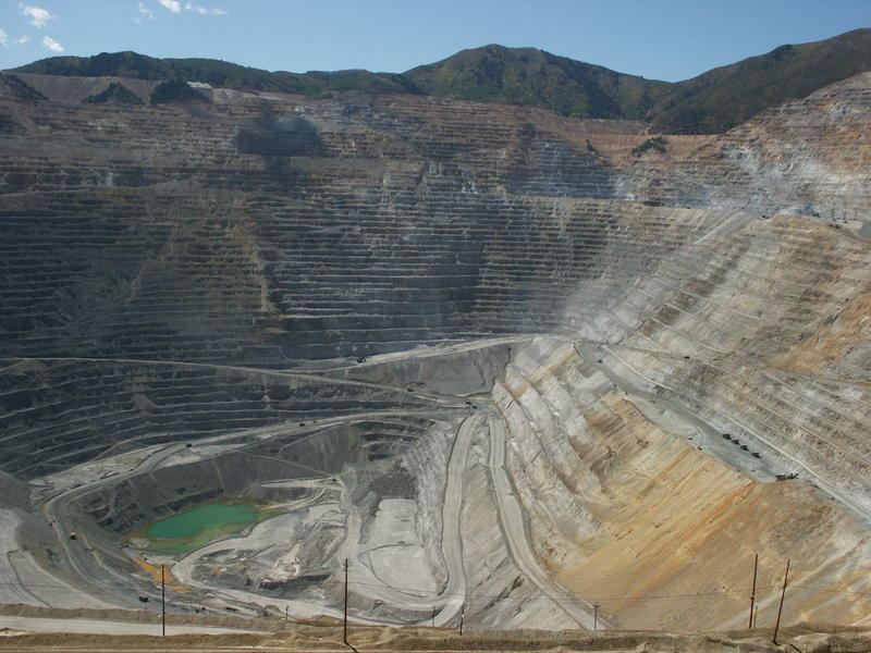 Picture of the Kennecott Copper Mine to the west of my home