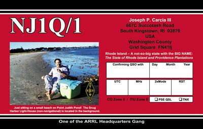 QSL image for NJ1Q