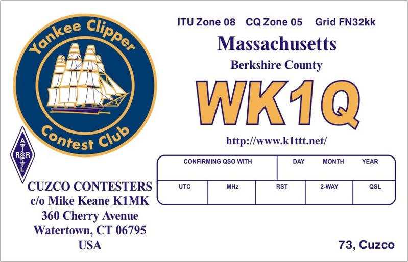 QSL image for WK1Q