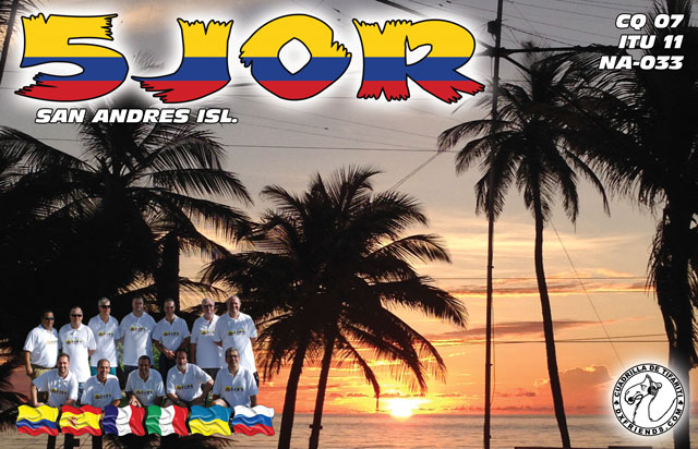 QSL image for 5J0R