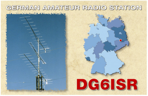 QSL image for DG6ISR