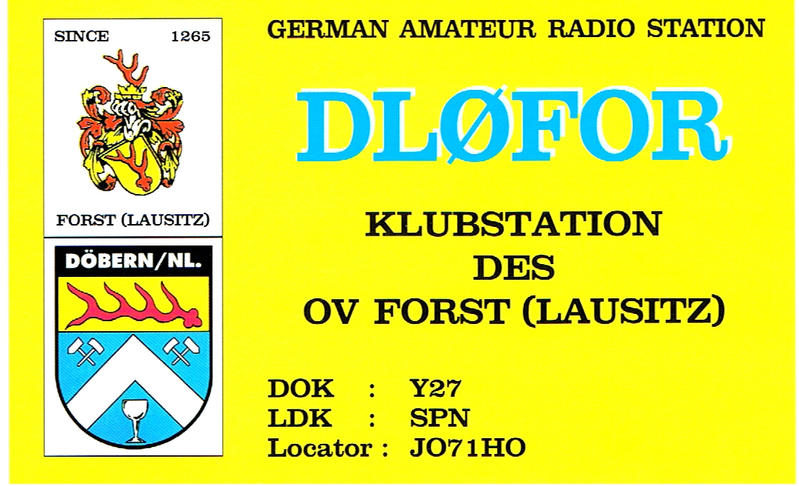 QSL image for DL0FOR