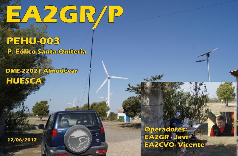 QSL image for EA2GR