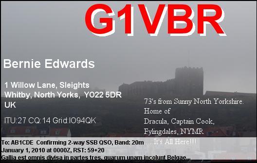 QSL image for G1VBR