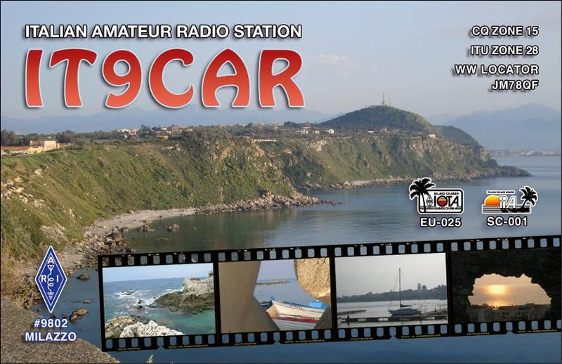 QSL image for IT9CAR