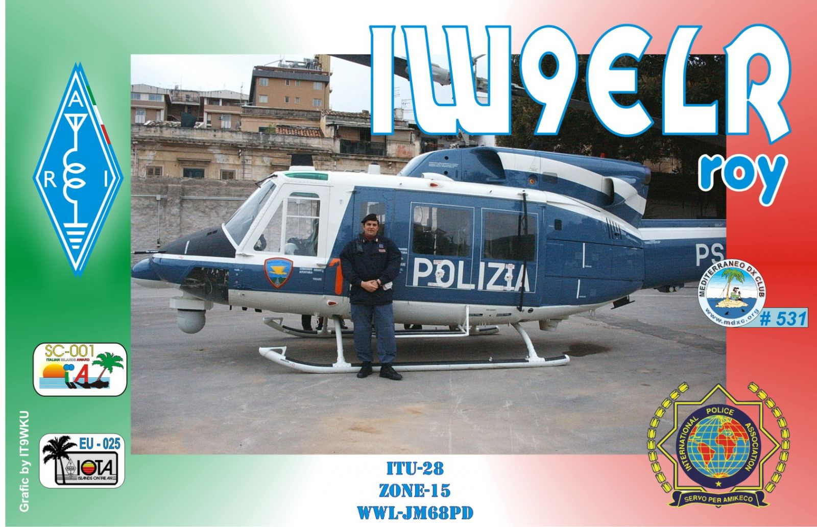 QSL image for IW9ELR