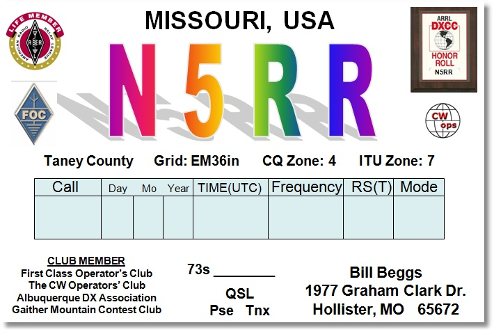 QSL image for N5RR