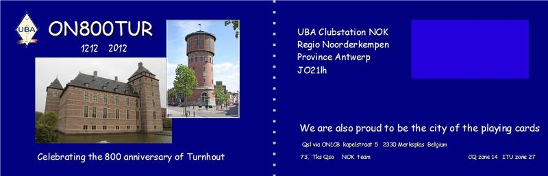 QSL image for ON800TUR