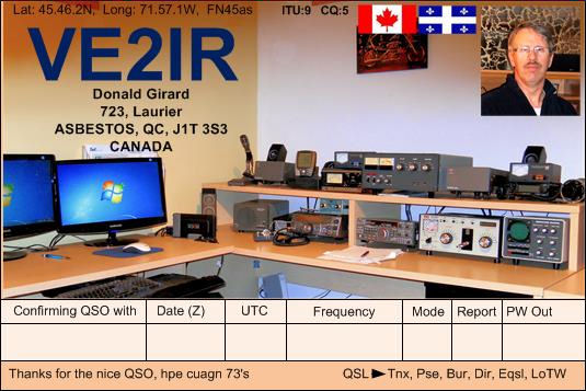 QSL image for VE2IR