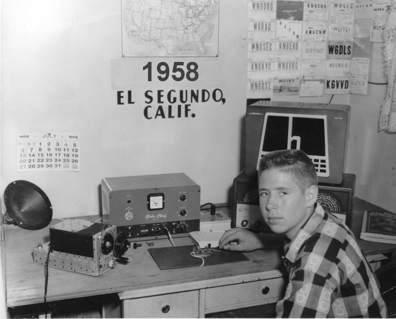 First station as a novice in 1958
