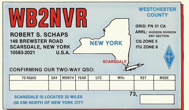 QSL image for WB2NVR