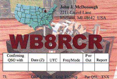 QSL image for WB8RCR