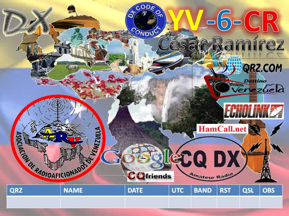 QSL image for YV6CR