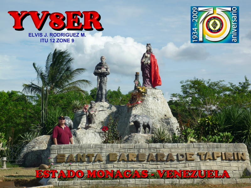 QSL image for YV8ER