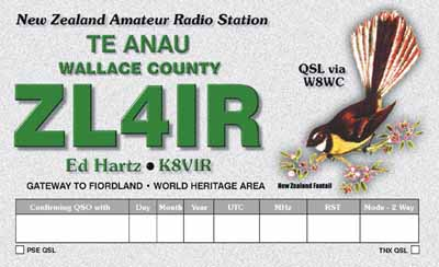 QSL image for ZL4IR