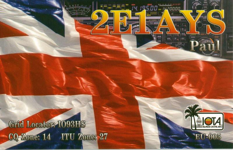 QSL image for 2E1AYS