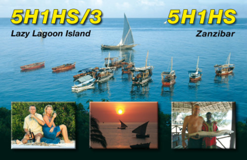 QSL image for 5H1HS