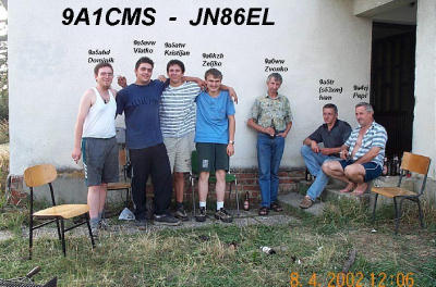 QSL image for 9A1CMS