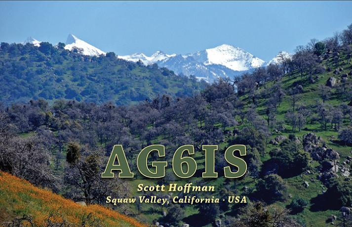 QSL image for AG6IS