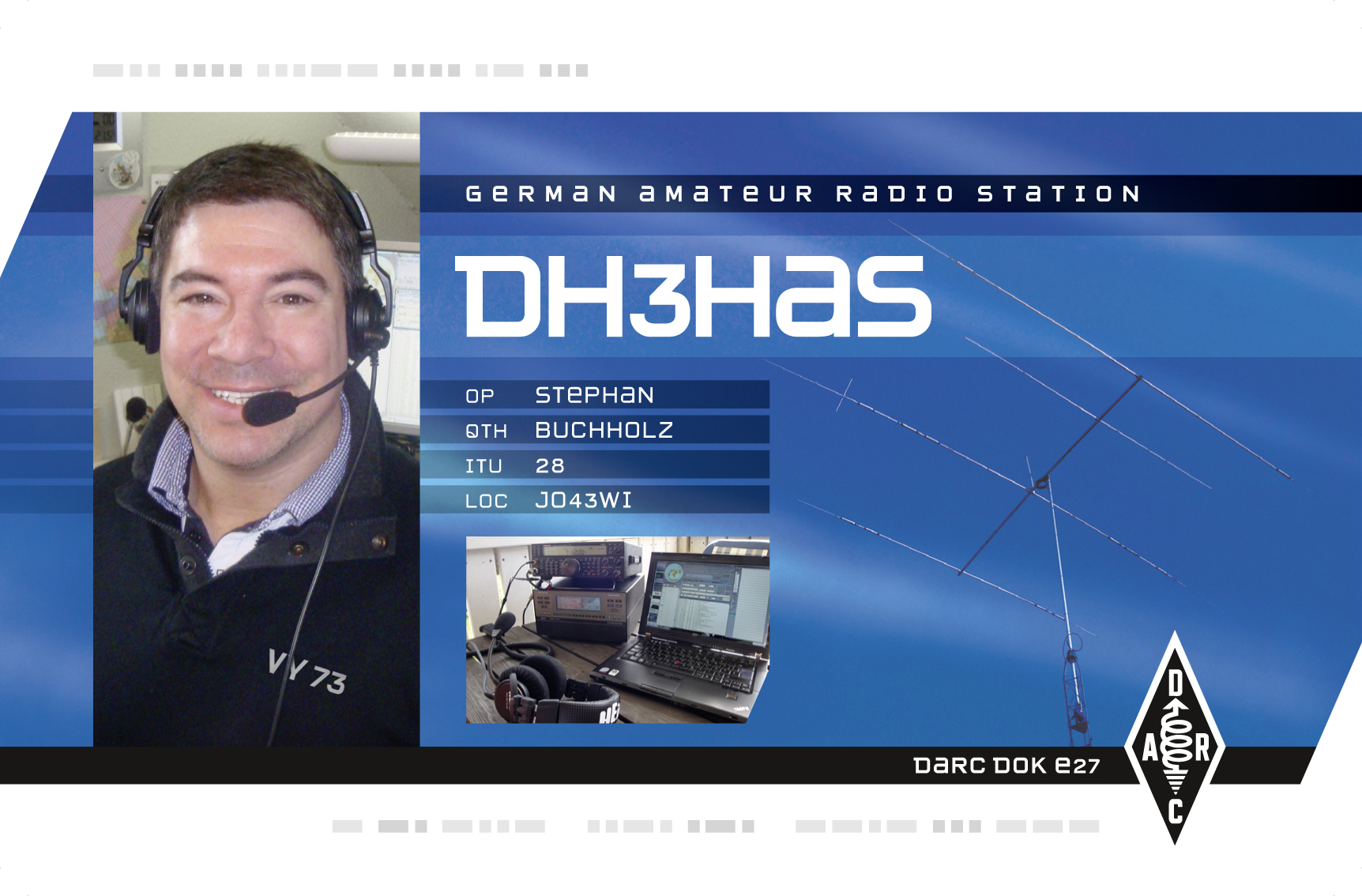QSL image for DH3HAS