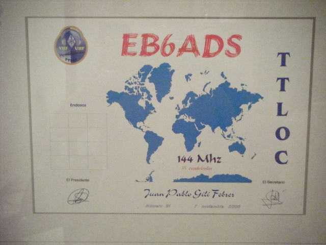 QSL image for EB6ADS