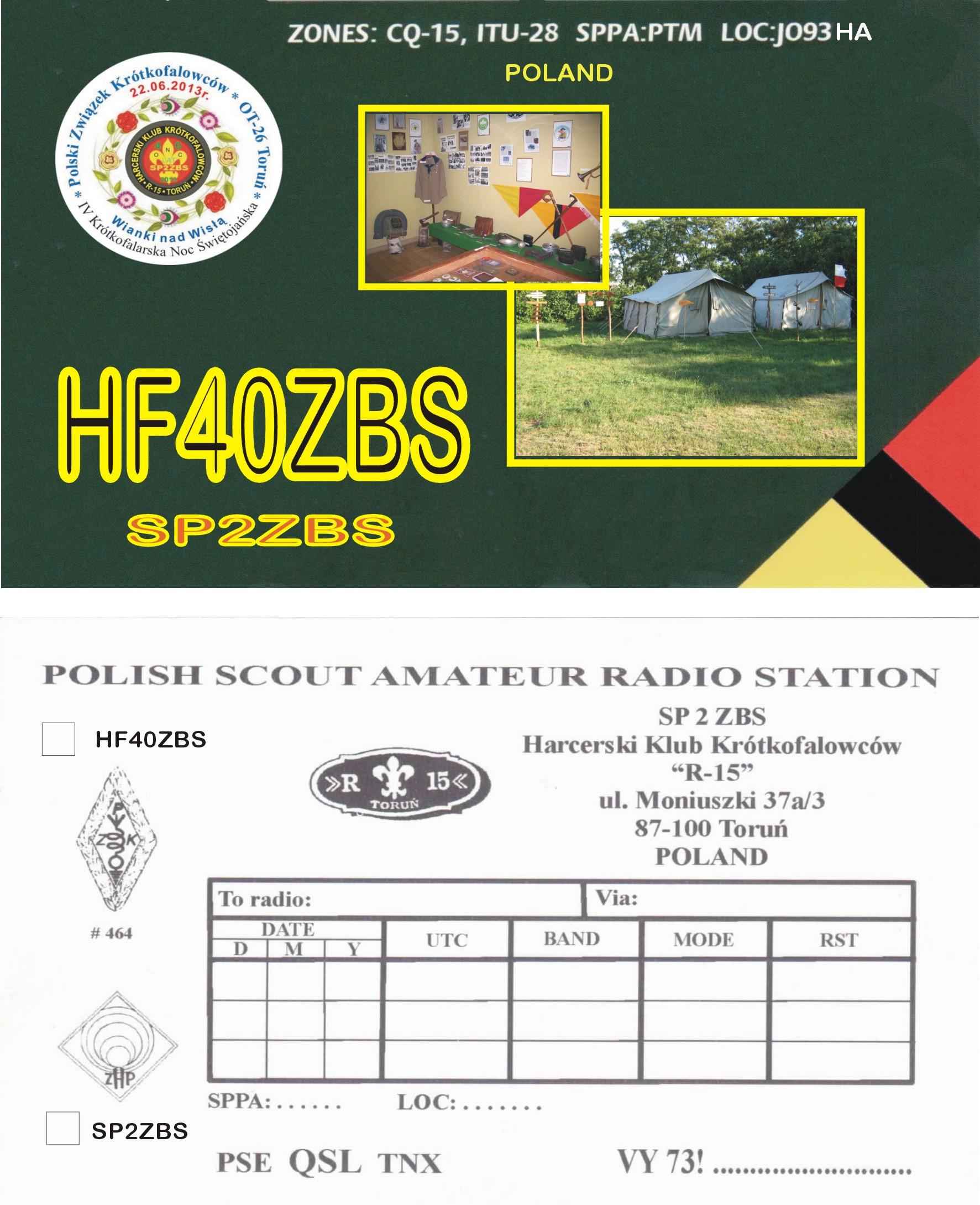 QSL image for HF40ZBS