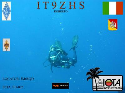 QSL image for IT9ZHS