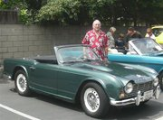 Mike K6ICS and his 1965 Triumph TR4