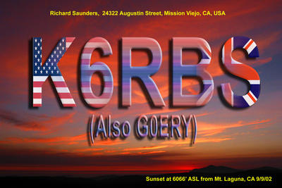 QSL image for K6RBS