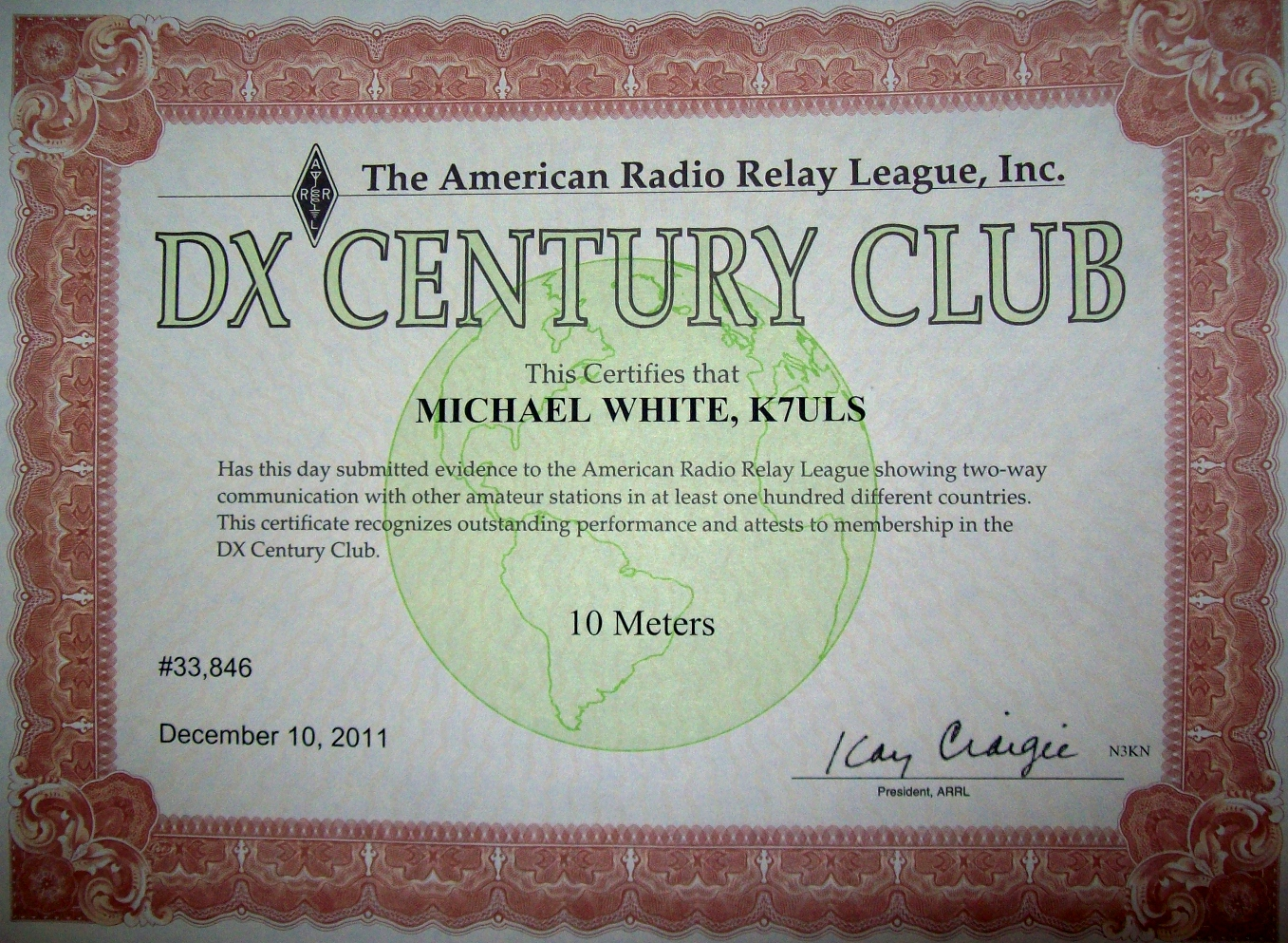 10 METERS DXCC