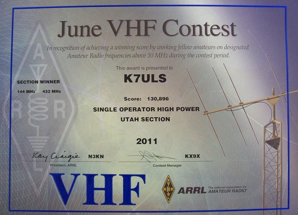 2011 JUNE VHF